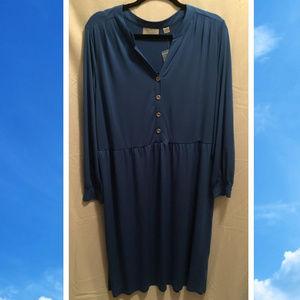 Size 18/20 Avenue Dress Blue Slinky Stretch NWoT